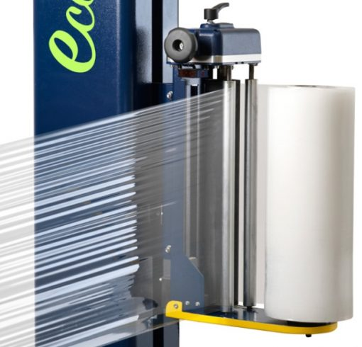 BANDEROLEUSE-PAS-CHER-ROBOPAC-FRD porte bobine simple frein manuel