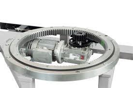 filmeuse automatique technoplat 3000 avec vue détail couronne plateau tournant