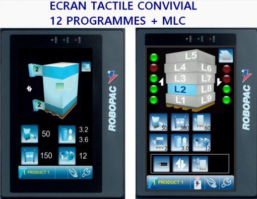 robot autonome de banderolage S6 écran tactile 12 programmes + multi couche palette