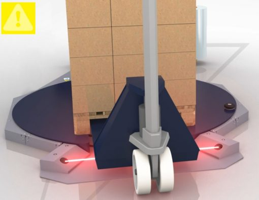 filmeuse-plateau-gerbeur-masterplat TP3 sécurité optique