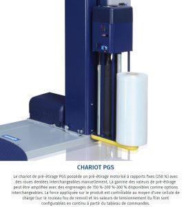 filmeuse-plateau-gerbeur-masterplat-pgs TP3 porte bobine pré-étirage fixe