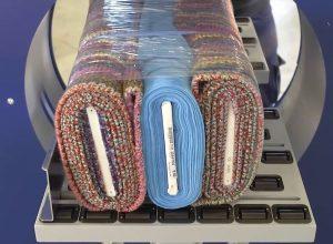 banderolage horizontale de profilé emballage rouleau tissu