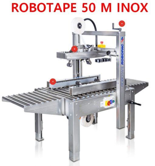 SCOTCHEUSE ECONOMIQUE ROBOTAPE 50 M version INOX alimentaire