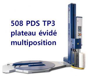 banderoleuse plateau tournant évidé ROTOPLAT 508 PDS TP3