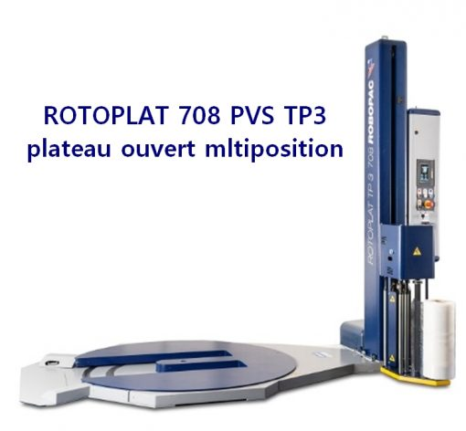 banderoleuse plateau tournant évidé ROTOPLAT 708 PVS TP3