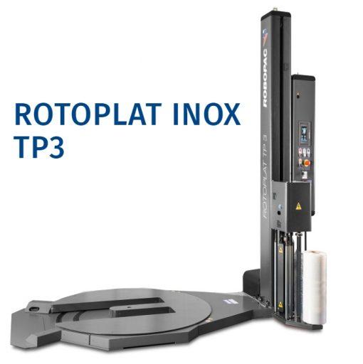 banderoleuse plateau tournant évidé ROTOPLAT TP3 inox