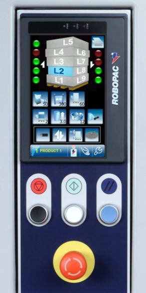 banderoleuse automatique bras tournant ROTOTECH écran tactile