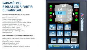 Filmeuse automatique TECHNOPLAT série 8 écran tactile détails programme MLC