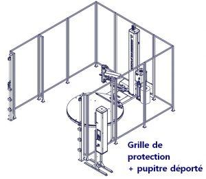 Filmeuse automatique TECHNOPLAT série 8 grille de protection pupitre déporté