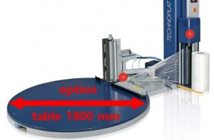 Filmeuse automatique TECHNOPLAT série 8 option plateau tournant 1800 palette 120x120