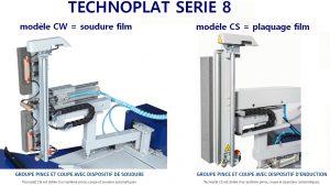 Filmeuse automatique TECHNOPLAT série 8 plaquage ou soudure queue film sur palette