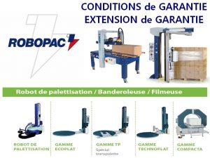 conditions garantie ROBOPAC