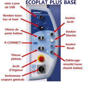 FILMEUSE ECOPLAT PLUS BASE avec détail fonction pupitre