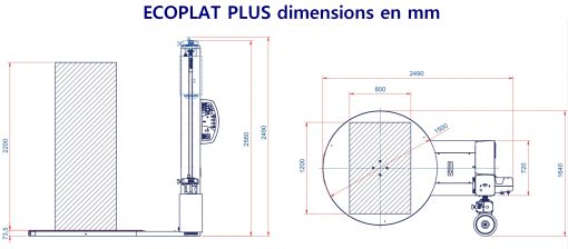 FILMEUSE ECOPLAT PLUS encombrement 1500 mm