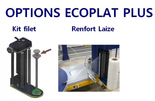 BANDEROLEUSE ECOPLAT PLUS FRD option kit filet renfort laize inférieur