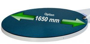 FILMEUSE ECOPLAT PLUS option plateau tournant 1650 mm