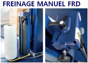 BANDEROLEUSE ECOPLAT PLUS FRD frein mécanique débrayable
