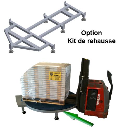 FILMEUSE ECOPLAT PLUS BASE option réhausse gerbeur électrique