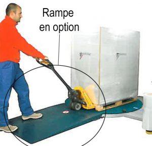 BANDEROLEUSE ECOPLAT PLUS FRD option rampe accès plateau tournant