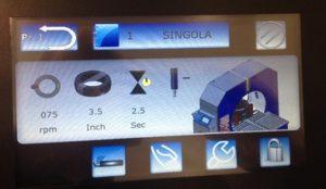 EMBALLEUSE SOUS ÉTIRABLE PRODUIT ROND écran tactile couleur