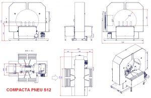 EMBALLEUSE SOUS ÉTIRABLE PRODUIT ROND encombrement COMPACTA S12