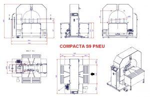 EMBALLEUSE SOUS ÉTIRABLE PRODUIT ROND encombrement COMPACTA S9