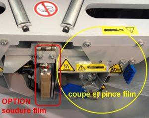 EMBALLEUSE SOUS ÉTIRABLE PRODUIT ROND coupe et soudure film étirable