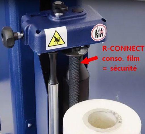 BANDEROLEUSE MASTERPLAT FRD LP option R-CONNECT Avec rouleau conso film étirable
