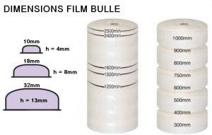 PAPIER BULLE PROTECTION différents diamètres bulles