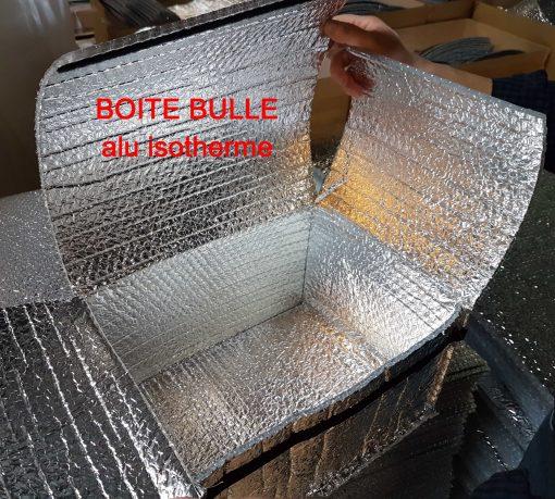 PAPIER BULLE PROTECTION boite isotherme aluminium métallisé