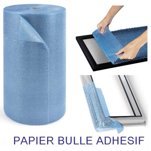 PAPIER BULLE PROTECTION 10 mm autocollant