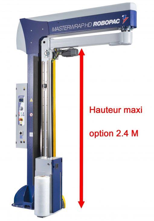 filmeuse bras tournant préétirage option hauteur mat 2.4 m