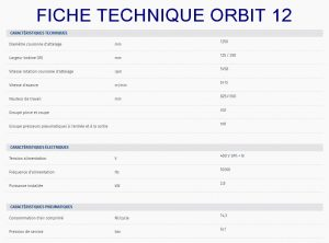 BANDEROLEUSE HORIZONTALE AUTOMATIQUE ORBIT 12 fiche technique