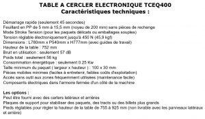 TABLE DE CERCLAGE ELECTRONIQUE