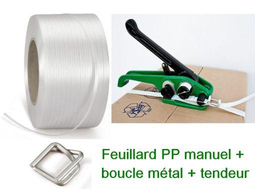 feuillard pp manuel avec boucle métal