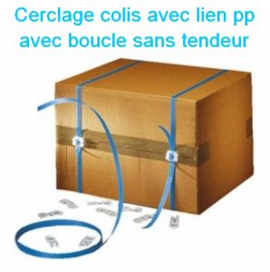 feuillard pp manuel boucle plastique autobloquante