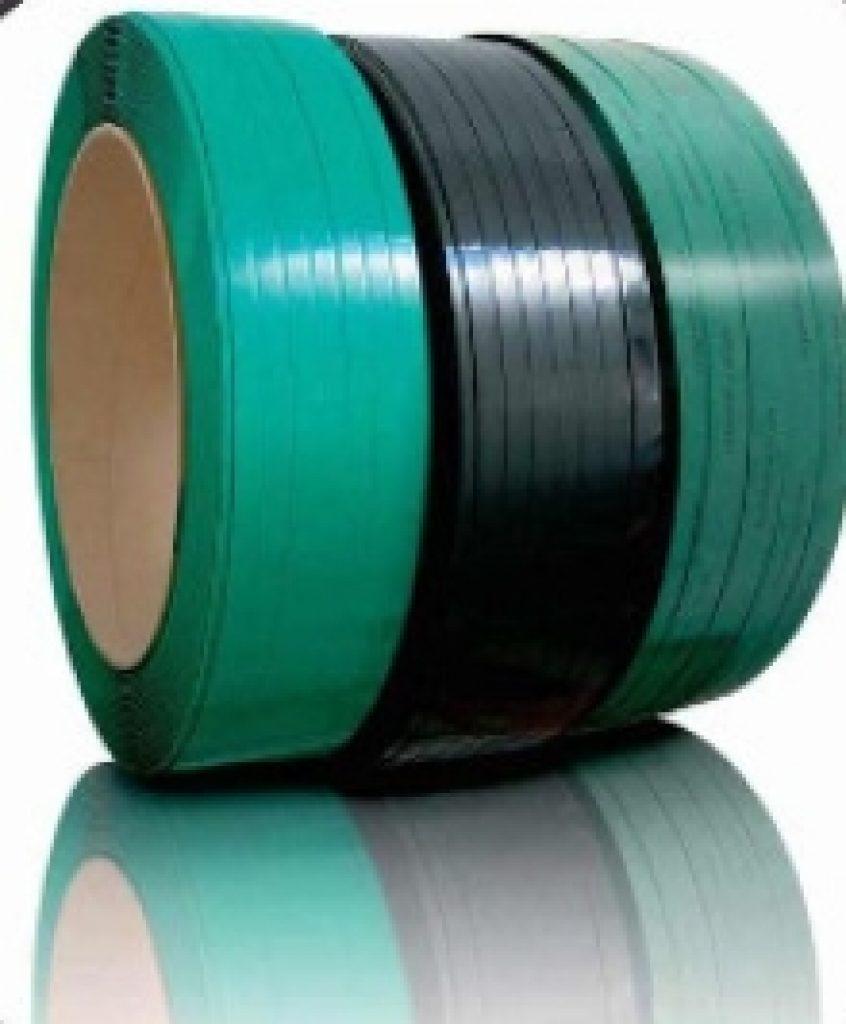 feuillard PET plastique polyester vert