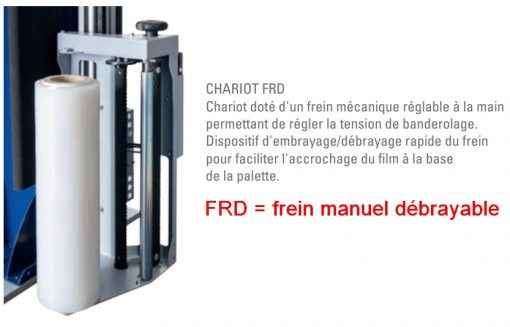 BANDEROLEUSE BRAS TOURNANT ECOWRAP XL + porte bobine FRD frein mécanique manuel