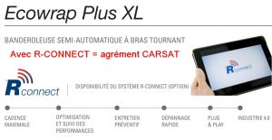 BANDEROLEUSE BRAS TOURNANT ECOWRAP XL + option R-connect agréé CARSAT