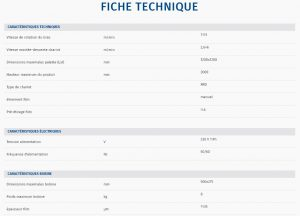 BANDEROLEUSE BRAS TOURNANT ECOWRAP XL + fiche technique
