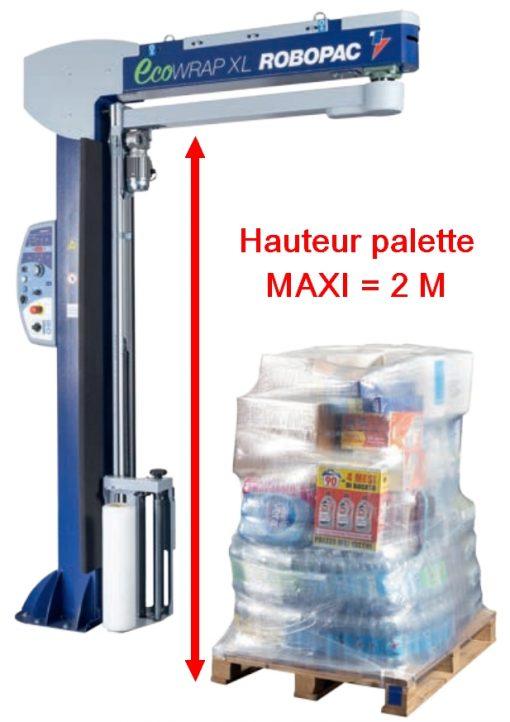 BANDEROLEUSE BRAS TOURNANT ECOWRAP XL + hauteur maxi palette 2 m