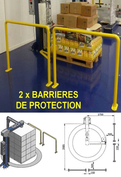 BANDEROLEUSE BRAS TOURNANT ECOWRAP XL + barrières de protection