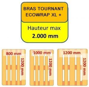 BANDEROLEUSE BRAS TOURNANT ECOWRAP XL + format palette