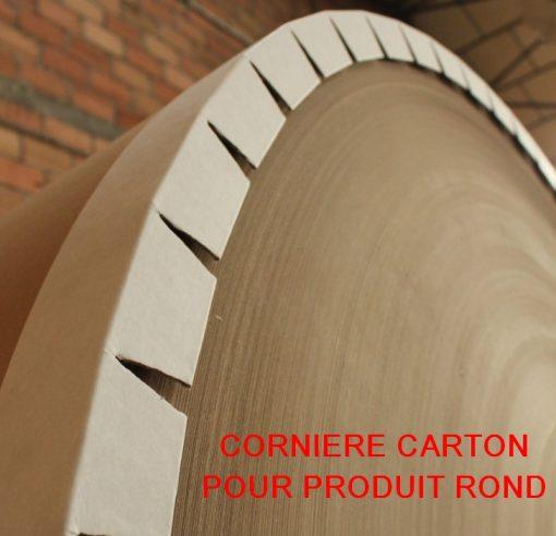 CORNIERE CARTON PROTECTION PALETTE pour forme circulaire