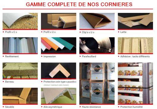 CORNIERE CARTON PROTECTION PALETTE gamme complète droite